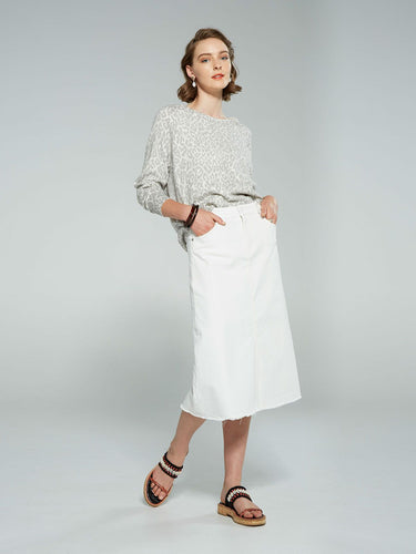 SILLS Sofia White Skirt
