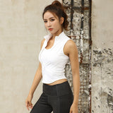 Zipper Crop Top - yoga1st