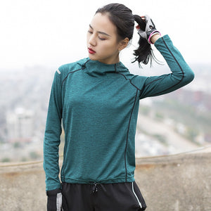 Hooded Shirts Top - yoga1st