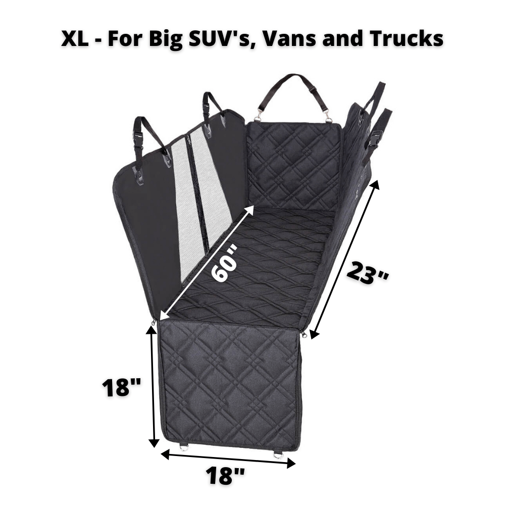 Hammock Car Back Seat Dog Cover with Mesh XL size