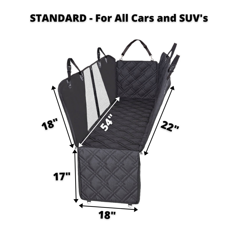 Hammock Car Back Seat Dog Cover with Mesh standard size