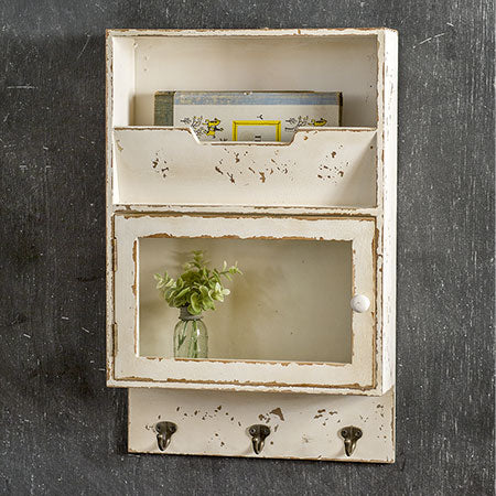 Sale! Glass Front Cabinet with Hooks