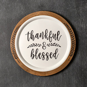 Thankful & Blessed Wall Décor