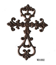 Load image into Gallery viewer, Antique Brown/Black Cross