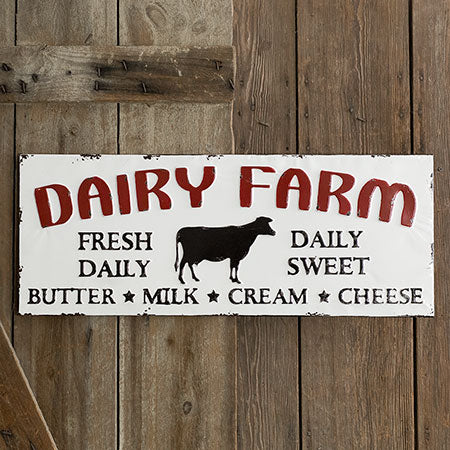 """Dairy Farm"" Metal Sign"