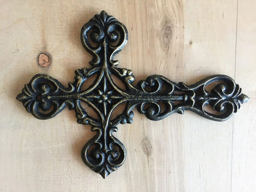 Antique Brown/Black Cross w/Gold Highlights