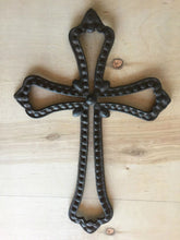 Load image into Gallery viewer, Western Style Rustic Antique Brown/Black Rope Cross
