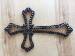 Western Style Rustic Antique Brown/Black Rope Cross