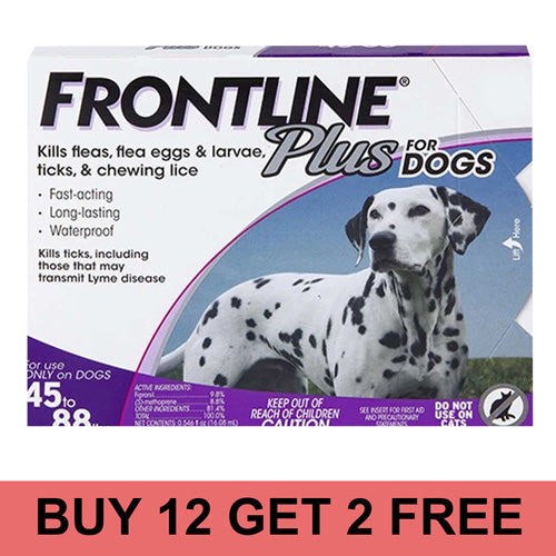 Frontline_Plus_For_Dogs_Purple_12+2 Offer_CanadaPetsSupplies