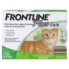 Load image into Gallery viewer, frontline_plus_for_cats_green_pack_canadapetssupplies