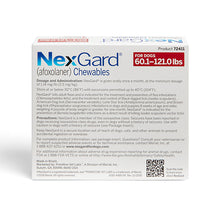 Load image into Gallery viewer, nexgard_chewables_for_dogs_red_information_canadapetssupplies