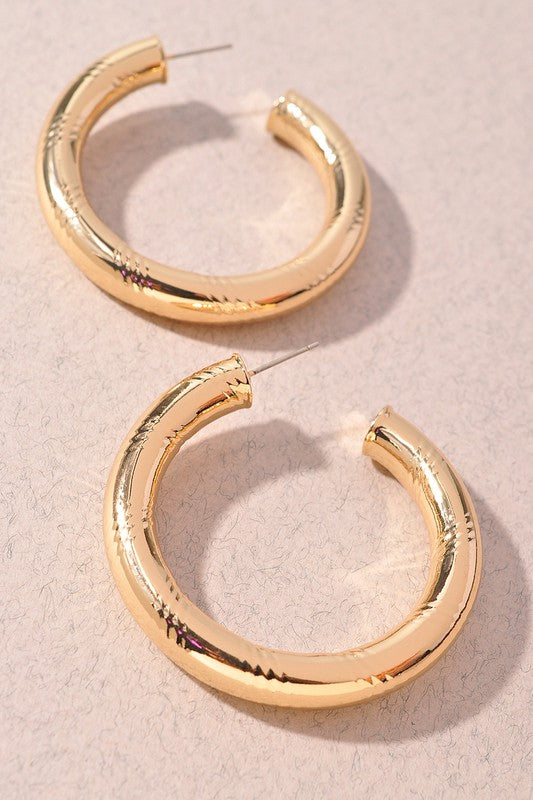 Gold/ Silver Hoop Earrings