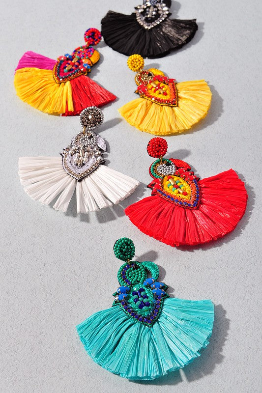 Detailed Fringe Earrings (additional colors)