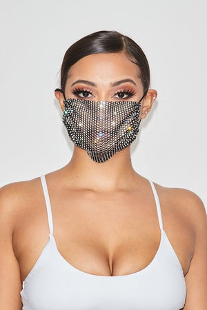 Rhinestone Face Mask (additional colors)