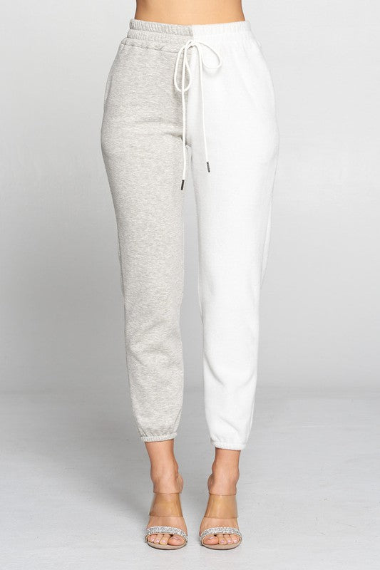 Color Block Sweat Pants