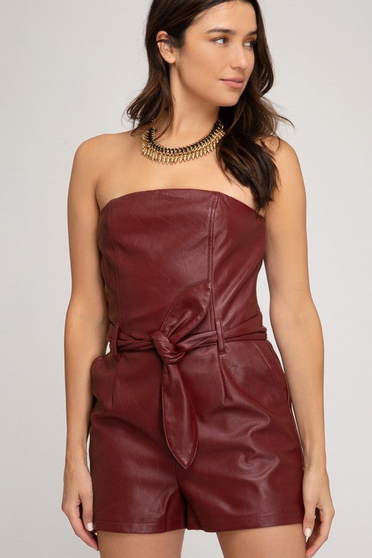 Leather Romper