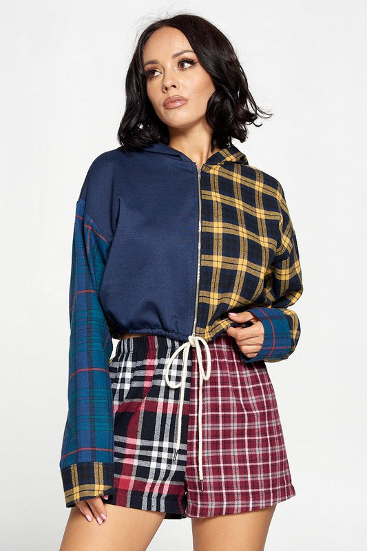 Plaid Short Set