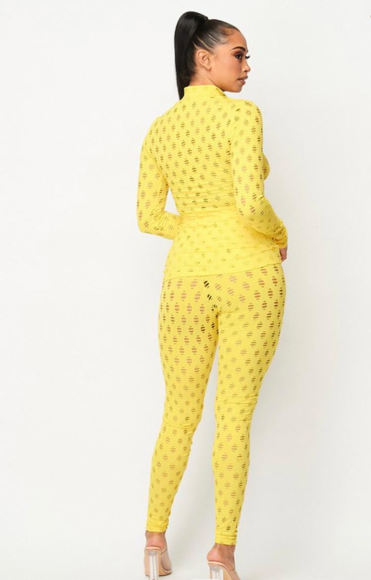 Yellow Legging Set