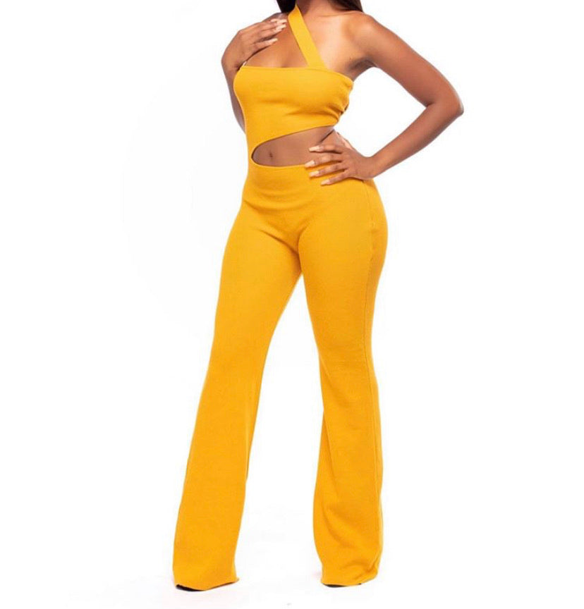 Mustard Cut-out Jumpsuit