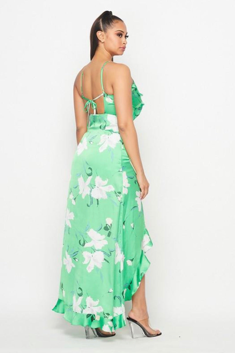 Floral Ruffle Maxi Dress