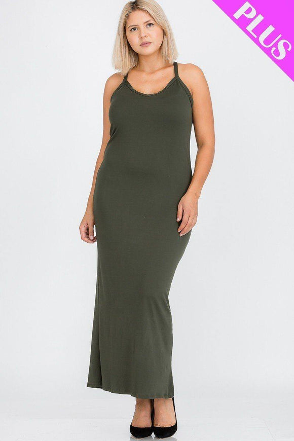 Plus Size Racer Back Maxi Dress - Sassy Shelby's