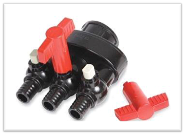 IHS Air Heater/Blower Manifold - 3 Way Air Flow Control Valve