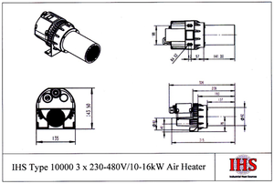 IHS Type 10000 Air Heater (With Electronics)