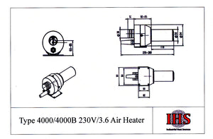 IHS Type 4000 Air Heater With IdK Sensorie Temperature Control Module & Thermocouple
