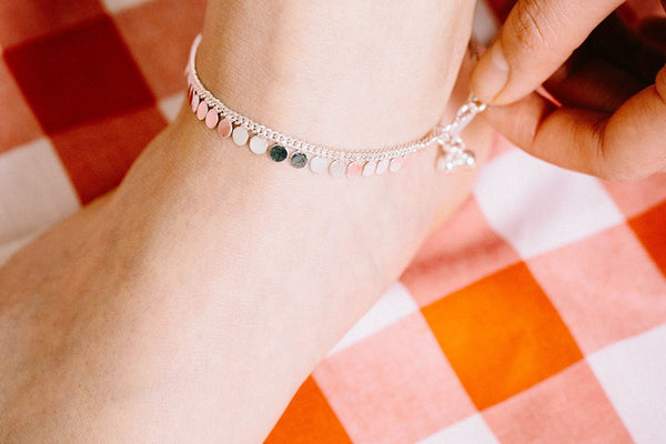our customer style in anklet and bracelet
