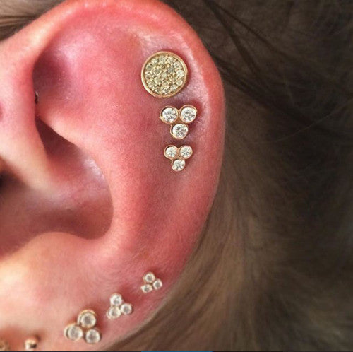 30 Ear Piercing ideas and piercing type from minimal cute piercing to hard core piercing
