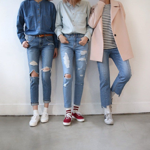 Denim jack,shirt, Jean style we love