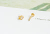 14k Gold Cartilage Tear Cubic Internally Internal Threaded Labret