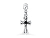 Simulated 316L Stainless Steel Dangling Vintage Stainless Steel Dainty Horizontal Cross Ear Barbell Ball Stud Danlg