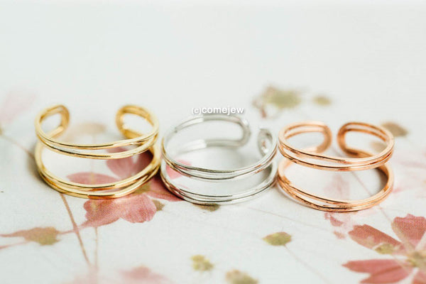 Adjustable 2ines Ring-B