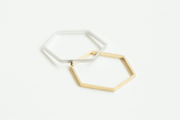 4lines Hexagon Ring