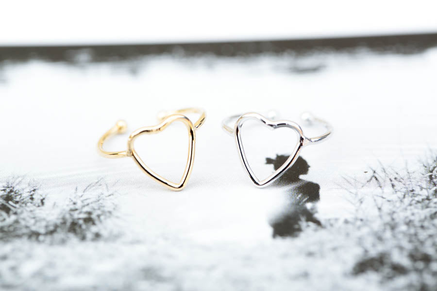 Adjustable Heart Ring-B