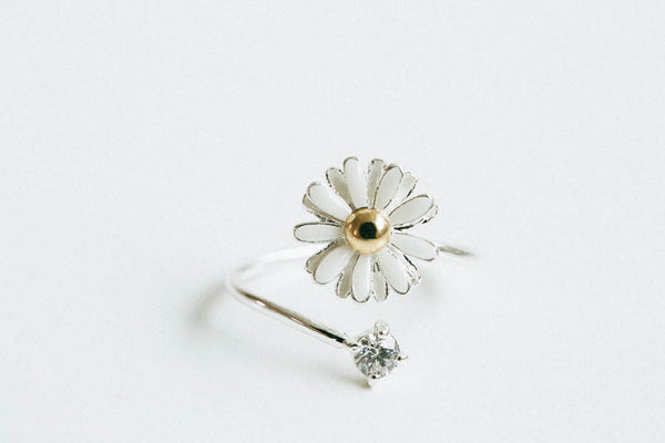 CZ Daisy Flower Ring