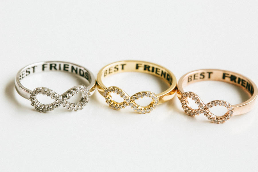 Cz Infinity Bestfriend Ring-F