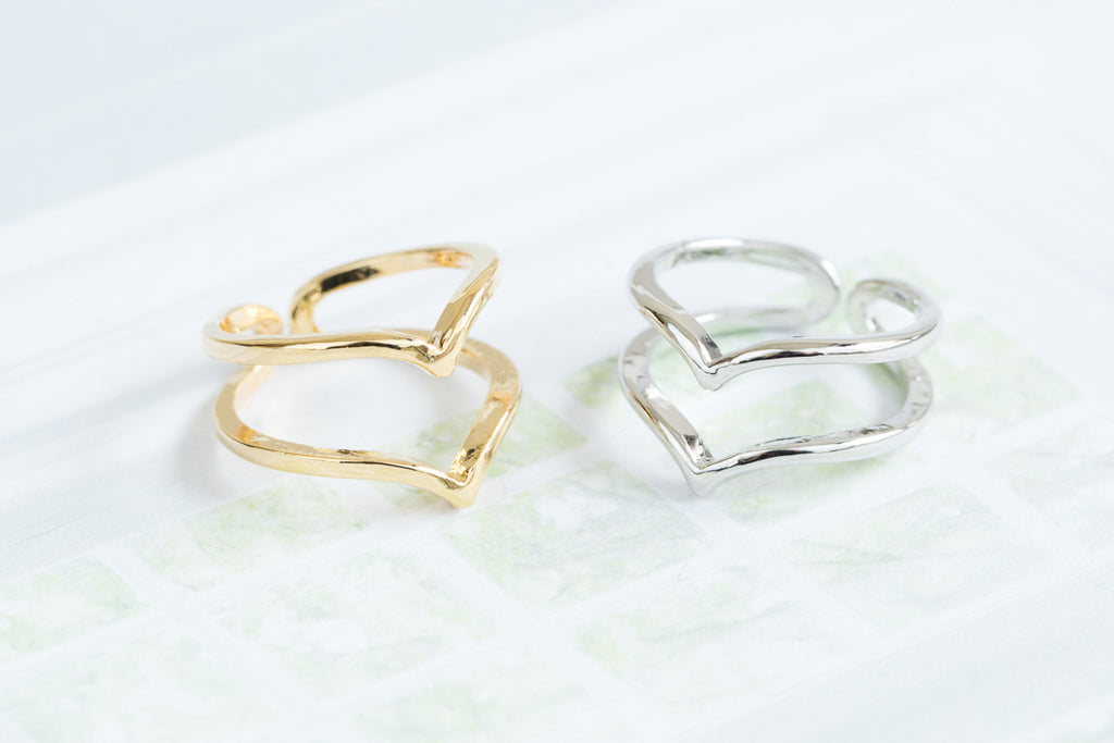 2lines Heart Ring