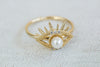 Pearl CZ Eye Ring