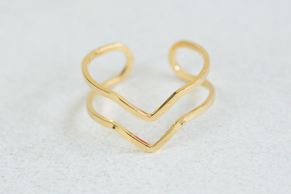 Adjustable 2lines V Ring