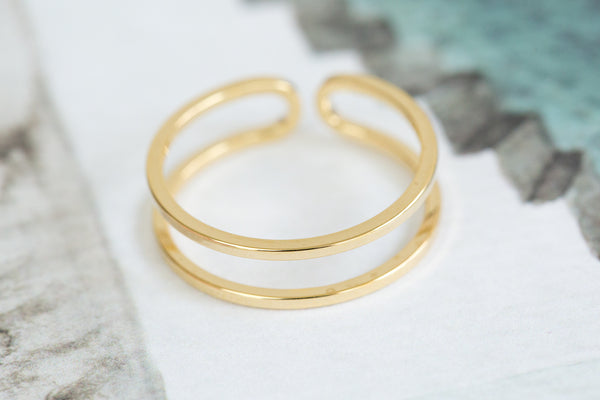 Adjustable 2Lines Ring-C