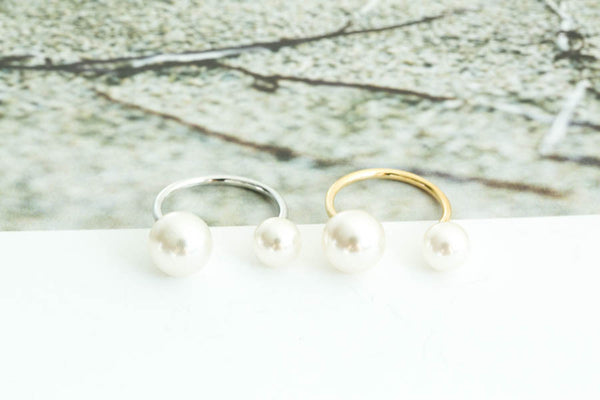 Open Pearl Ring-B