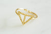 divided triangle ring-Ag