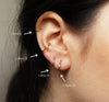 2PCS 316L Stainless Steel Round Hoop Tragus Helix Cartilage Conch Ring