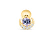 14k Gold Plated Simulated Sailor Luna Moon Ear Barbell Ball Stud Earring Piercing Stainless Steel