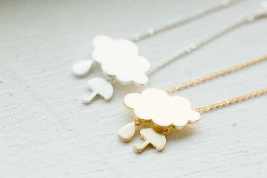 Cloud&Umbrella Necklace-ai