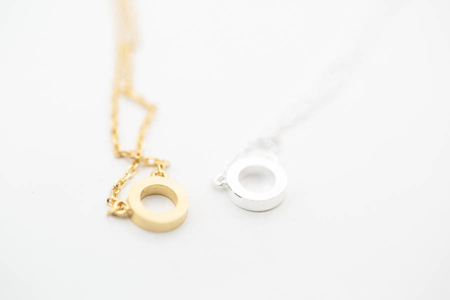 Open Circle Necklace-dk