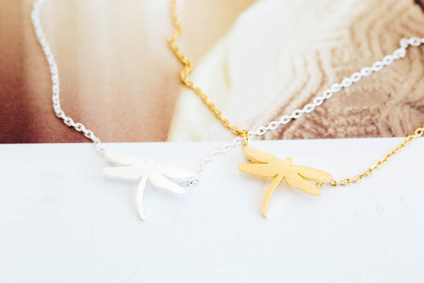 dragonfly necklace -MB