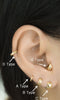 Rook Tragus Cartilage Helix Hoop Ring Piercing Earring-14K Solid Gold Jewelry